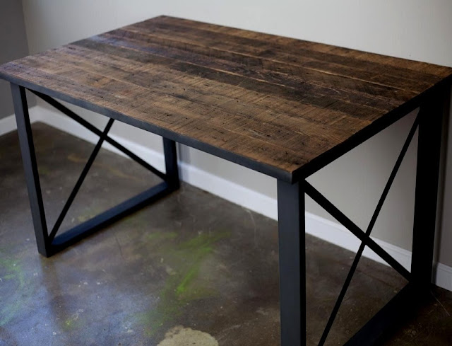 best buy rustic industrial office desk for sale discount