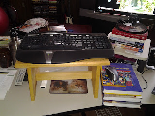 Props for standing desk