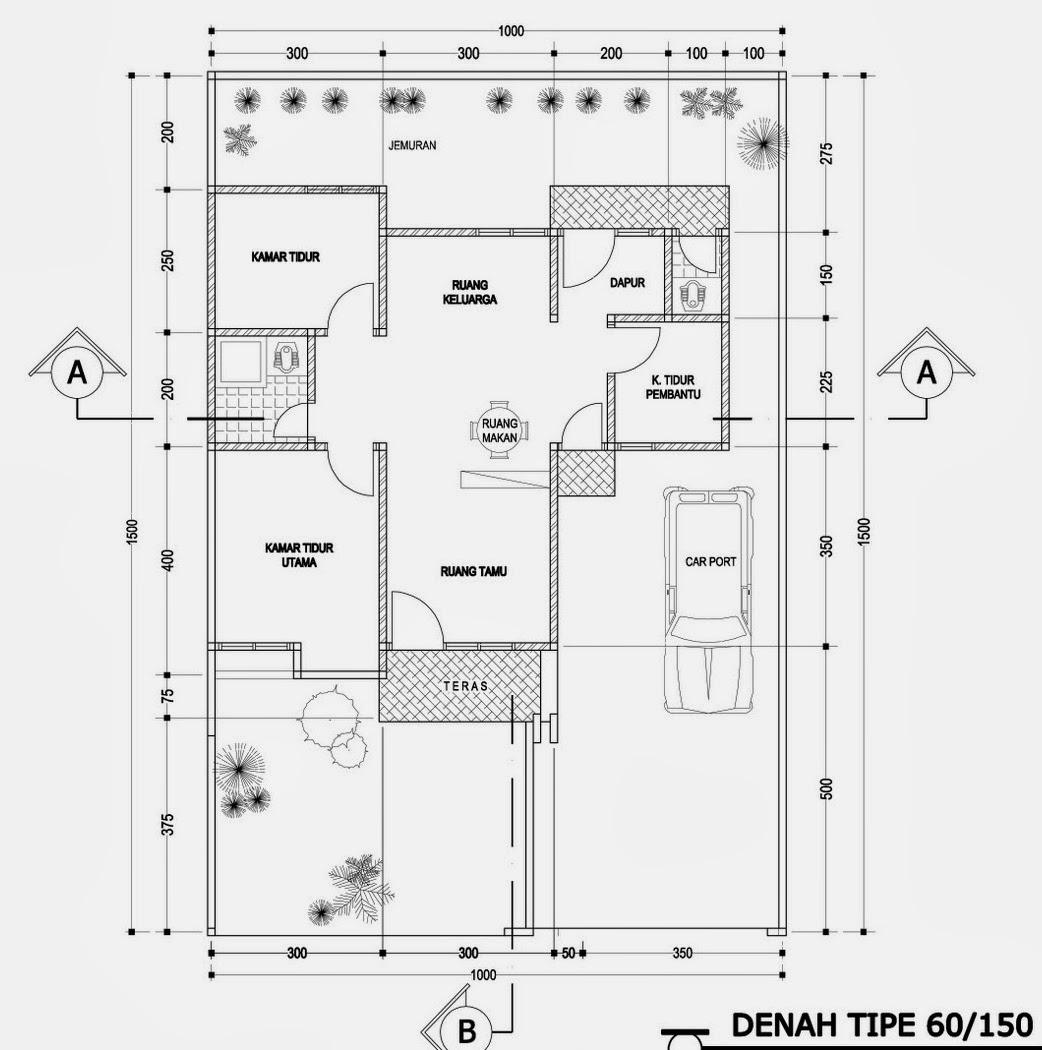 Kumpulan Contoh Denah Rumah Minimalis