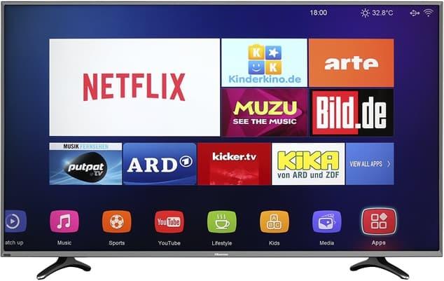 Hisense H50B710: Smart TV DLED de 50'' con resolución 4K, salida HDMI y conexión Wi-Fi