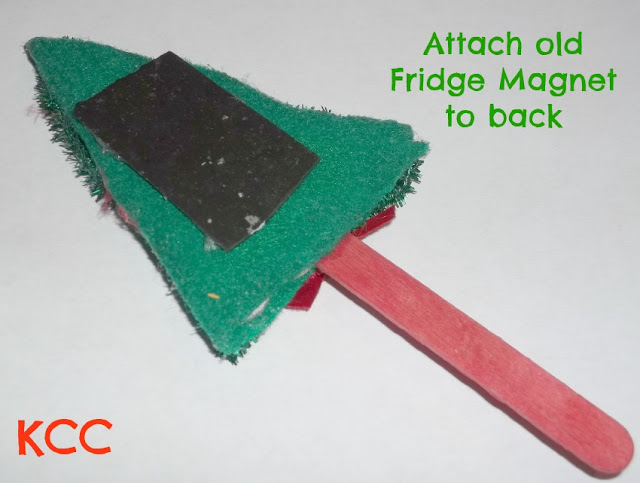 Homemade Christmas Decoration Fridge Magnet