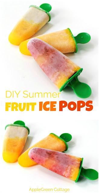Fruit ice pops are easy to make, healthy but delicious summer desserts. Check out our two favorite easy recipes!