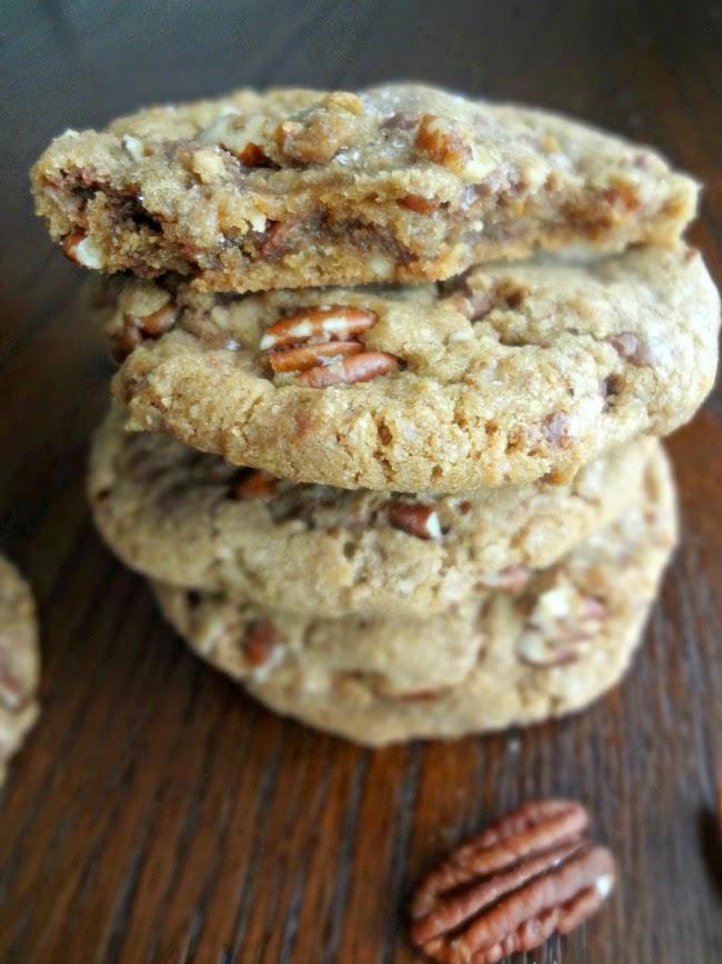 Brown Butter Pecan Toffee Cookies