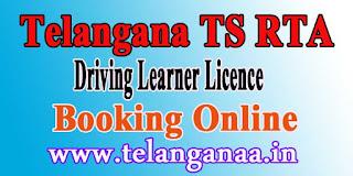 Telangana TS RTA Driving License Online Learner License Slot Booking Online