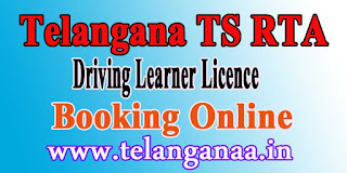 Telangana TS RTA Online Learner License Slot Booking Online