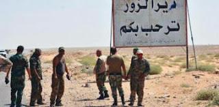 المقاومة الأسلامية حزب الله تهنئ سوريا بالانتصار على داعش و فك الحصار عن دير الزور