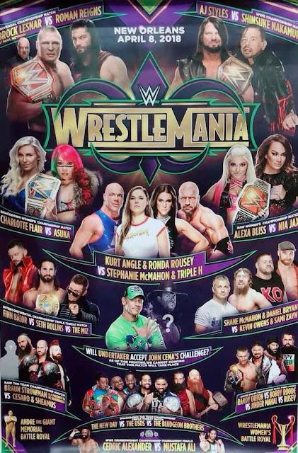 Wrestlemania 34 Matches 2018