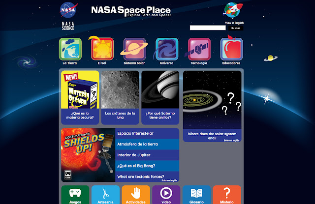 NASA Space Place en Español e Inglés