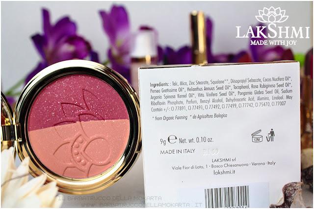 blush fard pesca-fucsia inci lakshmi makeup vegan ecobio