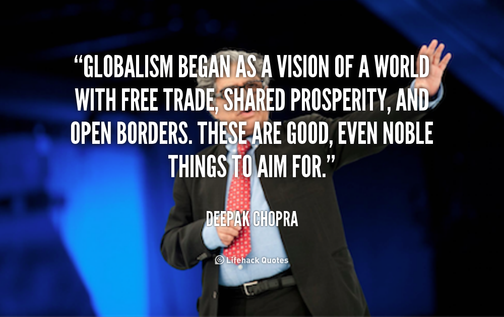 Deepak Chopra on Globalism
