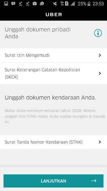 Cara Daftar UBER Driver Motor dan Mobil - Upload Dokumen Syarat Menjadi Uber Driver