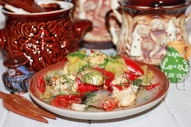 рецепт горшочков с курицей и овощами