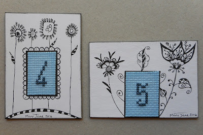 Cross Stitch ATC's 4 & 5