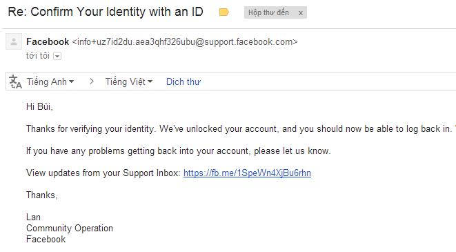 Hướng dẫn cách mở khóa tài khoản do bị dính Check Point xác minh tên thật.