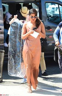 Priyanka Chopra looks Stunning in Beautiful Leg split Gown in Hollywood Oct 2017