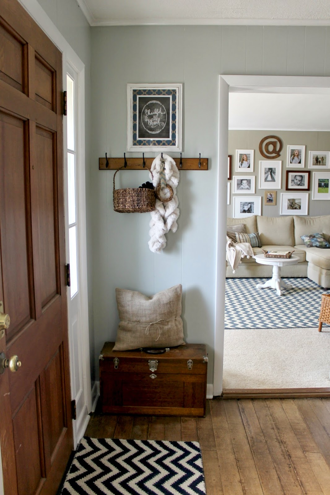 Grace lee cottage living room and foyer updates - Small entryway paint colors ...