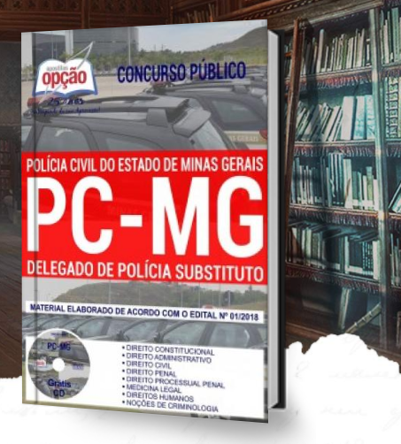 apostila do Concurso Público PCMG 2018 Polícia Civil de Minas Gerais para Delegado de Polícia Civil Substituto