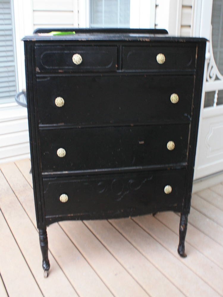 Before 1920s dresser with chipping paint