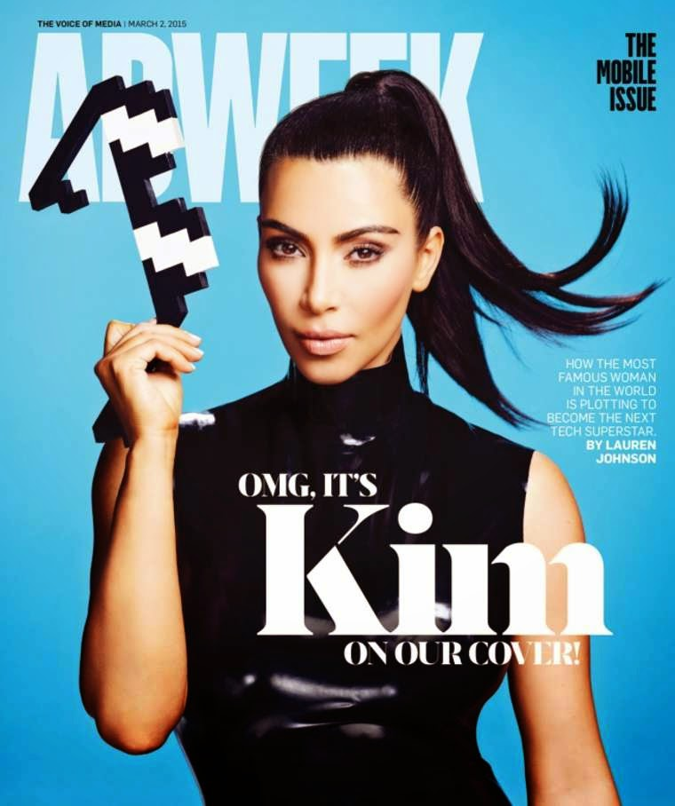 Kim Kardashian wears latex for Adweek Magazine's March 2015 issue