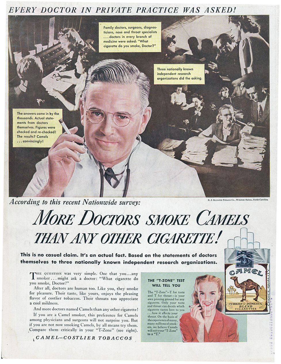 30 Outrageous Vintage Cigarette Ads Claimed That More Doctors Smoke Camels Than Any Other Everyday