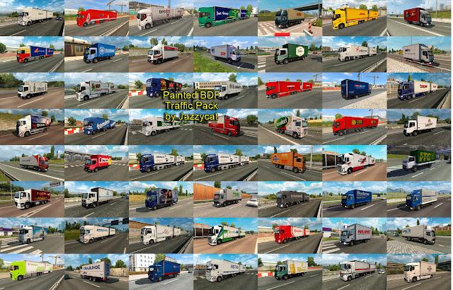ets 2 painted bdf traffic pack v4.6 screenshots 2