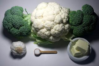 Brócoli y coliflor con romero y ajo - ingredientes