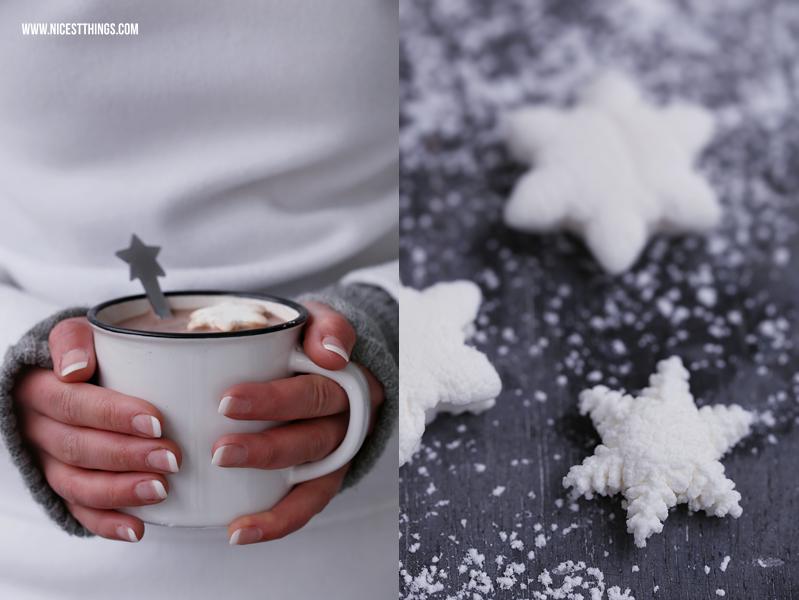 Marshmallows Rezept Schneeflocken Marshmallows selber machen