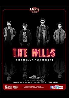 Concierto THE MILLS regresa a Bogotá en OZZY BAR