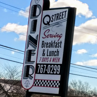 image of sign for Q Street Diner, South Portland,ME