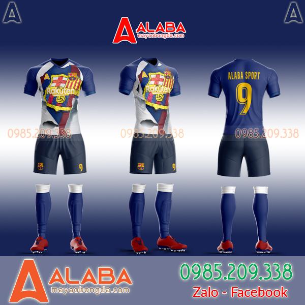 Áo Barca tự thiết kế đẹp 2019 mã ALB BA10