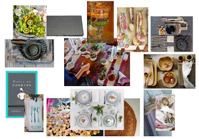 Estilismo para las mesas, table ware y un moodboarding para conseguir la atmósfera deseada