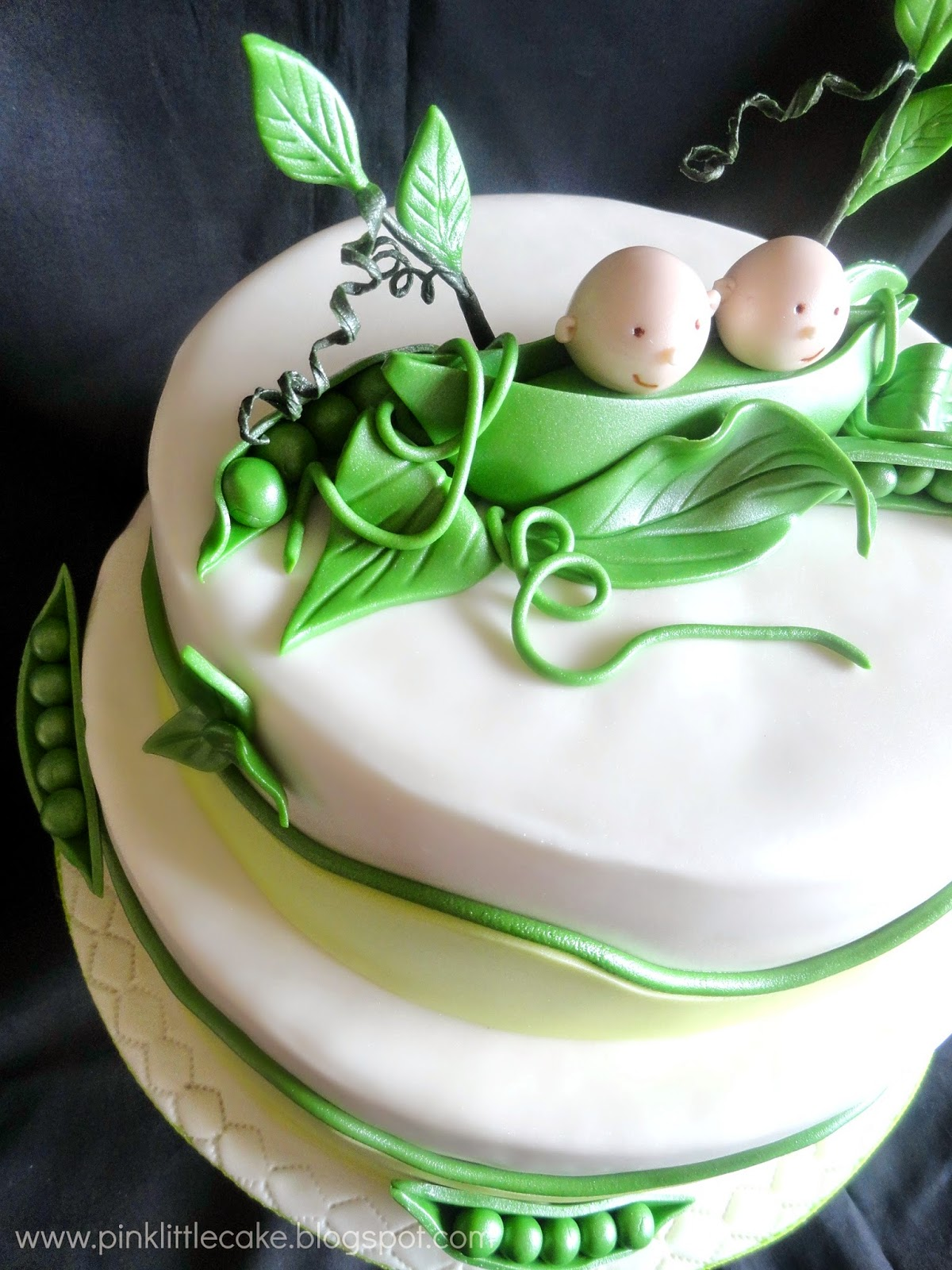 2 Peas And Their Pod Baby Shower Cake