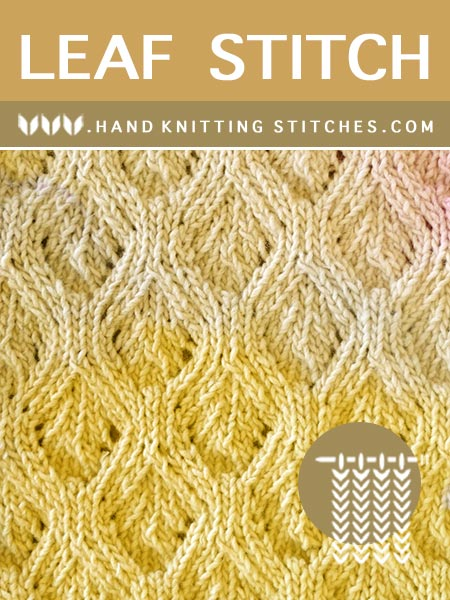 The Art of Lace Knitting - Leaf #LaceKnitting Pattern.