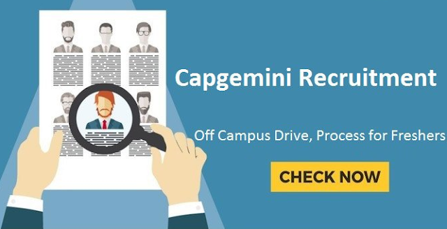 Capgemini Off Campus Drive for Freshers