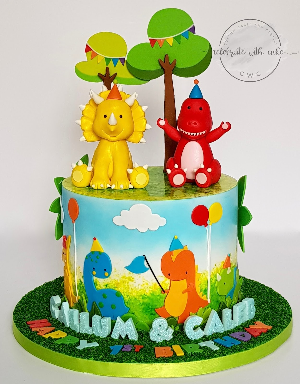 Magnificent 1St Birthday Dinosaur Cake The Cake Boutique Personalised Birthday Cards Paralily Jamesorg