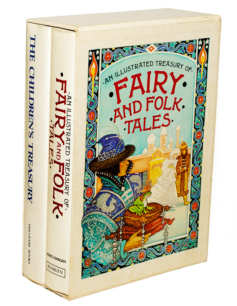 A set of two large hardcover books from the early 1970s - folk and fairy tales written for children.