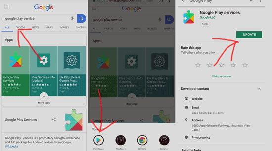 cara update google play service agar bisa download aplikasi dan game di playstore