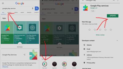cara update google play service agar bisa download aplikasi dan game di playstore