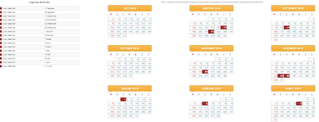 gambar kalender pendidikan 2018 sd, smp, sma