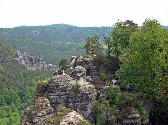 Bastei nad Łabą, formacje skalne