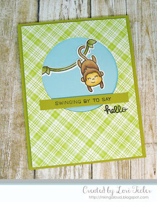 Swinging By card-designed by Lori Tecler/Inking Aloud-stamps and dies from Lawn Fawn