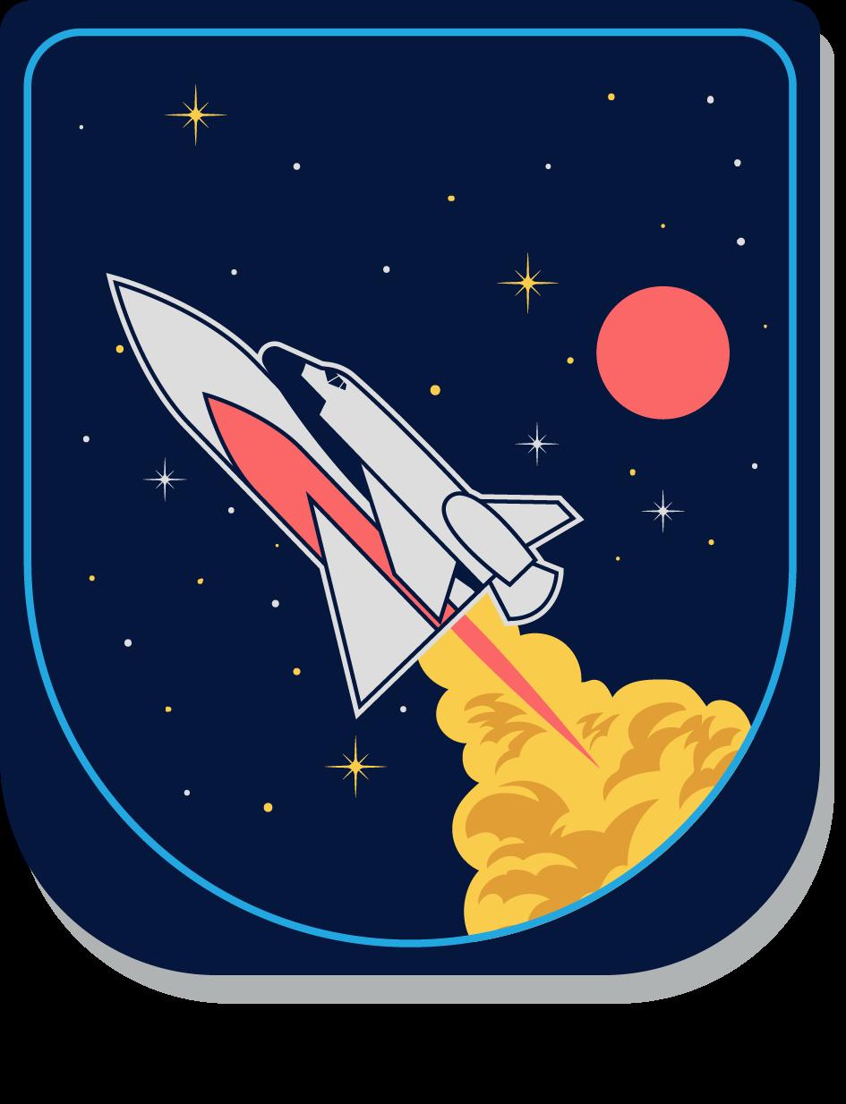 Uzay Mekiği Logo Vektör