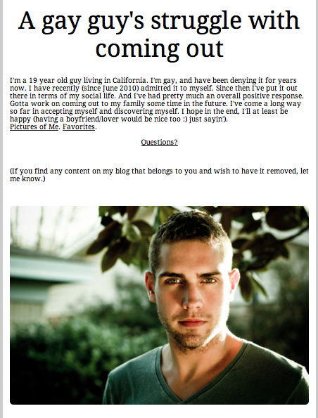 Gay blogs on tumblr