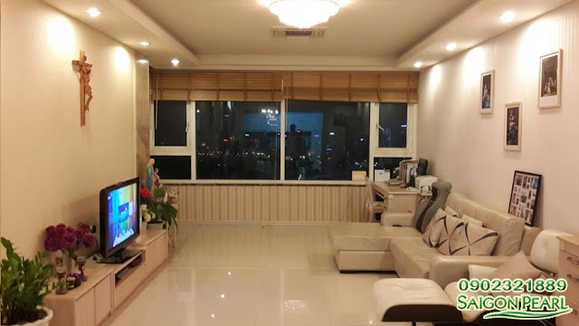 Apartment for rent in HCMC, Saigon Pearl Ruby 2, City view