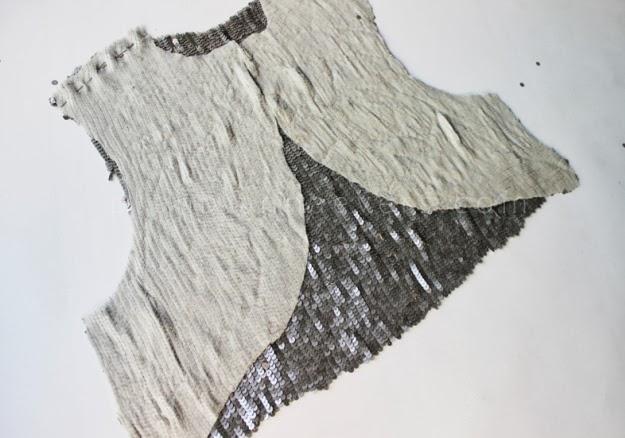 Pullu Kumaştan Abiye Bolero Dikimi - Resimli Anlatım 6
