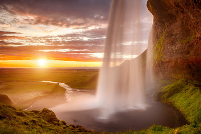 Iceland's Seljalandsfoss Waterfall in June