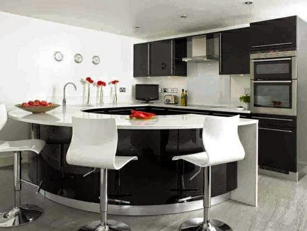 Lindas fotos de cocinas peque as con isla colores en casa for Cocinas de casas pequenas
