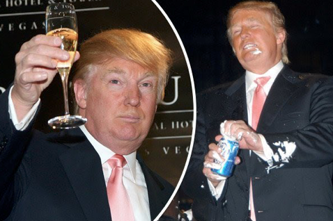 "PRESIDENT TRUMP sense of humor: ""I'm not a drinker. I can honestly say I never had a beer in my life. It's one of my only good traits … Can you imagine if I had what a mess I'd be?"""