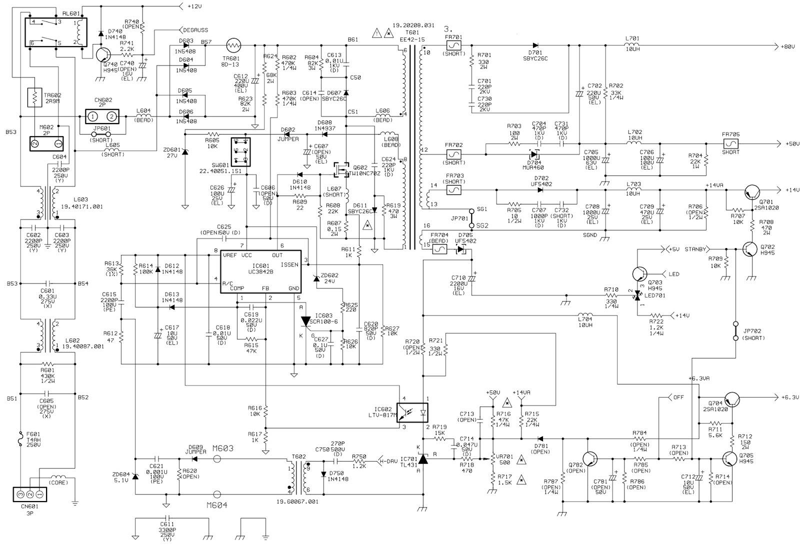 BenQ, Mitsubishi 1786FD2 Diamond View CRT Monitor – Circuit Diagram  Adjustments  Troubleshooting