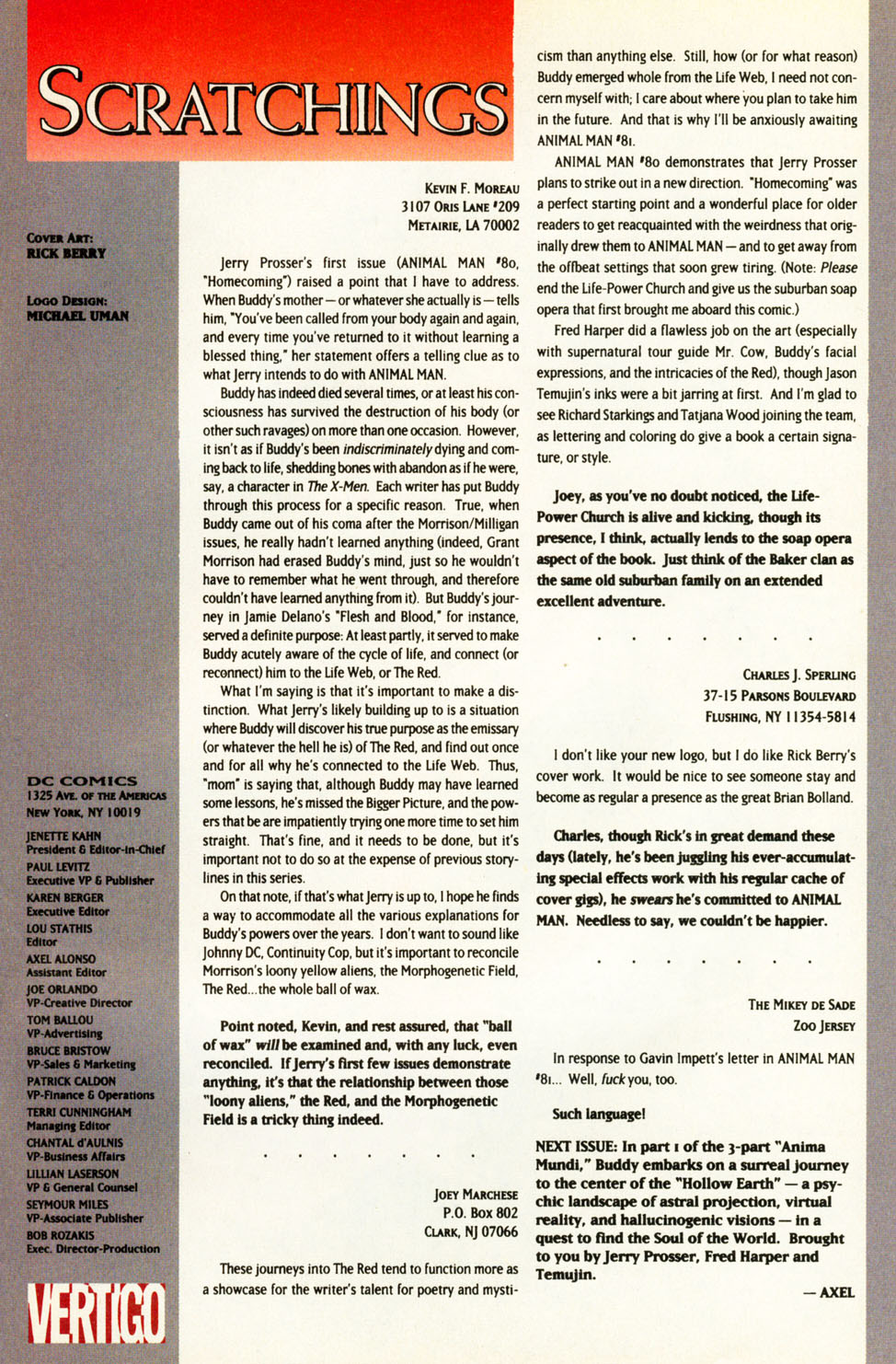 Read online Animal Man (1988) comic -  Issue #84 - 26